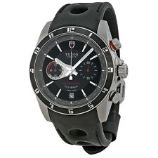 Tudor Grantour Chrono Fly-Back Black Dial Mens Watch 20550N-BKLPL
