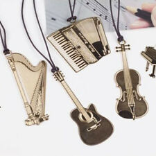 4PCS/set Creative Musical Instrument Shaped Metal Bookmarks Cute Bookmark