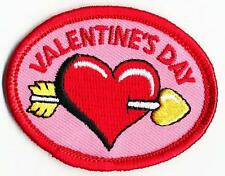 Girl Boy Cub VALENTINE'S DAY HEART Fun Patches Crests Badges SCOUTS GUIDE Red