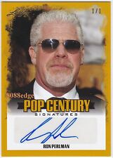 2015 POP CENTURY AUTO: RON PERLMAN #1/1 OF ONE AUTOGRAPH HELLBOY/SONS OF ANARCHY