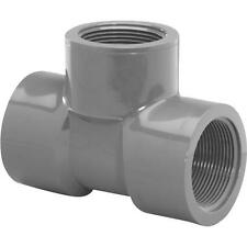 """25 Pk Genova PVC SCH 80 Pipe 3/4"""" FIP All Ends Pressure Fitting Tee 354578"""
