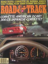 Road & Track magazine 01/1984 featuring Nissan ZX, Corvette, Audi, Mercedes