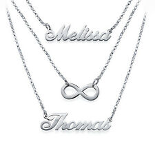 Layered Name Necklace in Sterling Silver - Personalized (USA Seller)
