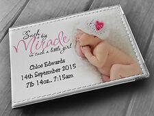 Personalised photo album 6x4, baby birthday gift, newborn baby girl present