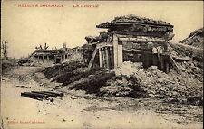 Reims à Soissons France Grande Guerre ~1914-18 La Neuville Straßenpartie Ruinen