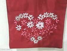 "HOME WEAR VALENTINES HEART BEADED TABLE RUNNER PINK RED 13x72"" LAST ONE!!"