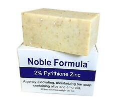 Noble Formula 2% Pyrithione Zinc (ZnP) Bar Soap 3.25 oz - Hand Crafted in the...