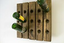 Riddling Rack Handmade Wood Wall Hanging Wine Rack
