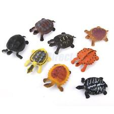 8 Plastic Turtle Tortoise Model Reptile Animal Figures Marine Kids Toy Gift