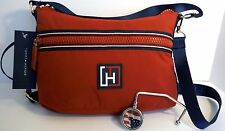 Tommy Hilfiger Red Training Mini Convertible Hobo Bag w/ Purse Hanger
