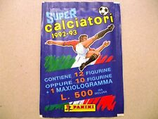 BUSTINA PACKET SOBRE FIGURINE PANINI SUPER CALCIATORI 1992-1993 *L. 500