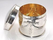Antique Victorian 175gm Solid bote de plata esterlina Tea Caddy Caja de Londres 1900