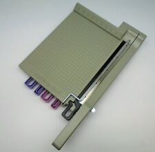 "Create-a-Cut 12 x 12"" Guillotine Paper Cutter Interchangeable 3-Blade Design"