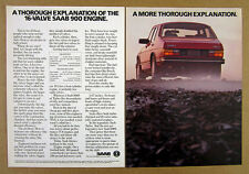 1986 Saab 900 900S red car photo vintage print Ad