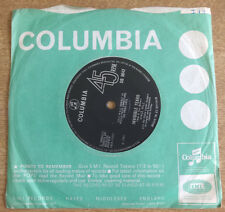 """Vince Hill, Invisible Tears 7"""", Columbia Records"""