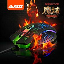 UK Ajazz 2400DPI Dark Knight Colorful Rainbow 6 Buttons Usb Gaming Mouse WOW LOL