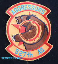527th AS AGGRESSOR SQUADRON PATCH US AIR FORCES PIN UP EUROPE RAF ALCONBURY VET