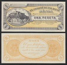 España - Spain (Civil War) Billete local. Dénia 1 Peseta 26-9-1936  SC = UNC
