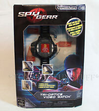NEW Spy Gear TRI-OPTICS VIDEO WATCH 3 Camera Views RECORD & PLAY Videos & Photos