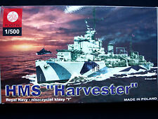 "BRITISH WWII DESTROYER  HMS ""HARVESTER"", ZTS PLASTYK S-040, SCALE 1:500"