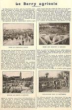 BERRY AGRICOLE BAUGY SANCOINS SANCERRE ARTICLE PRESSE PAR MARQUIS DE VOGUE 1922