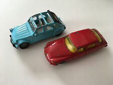 Siku Lot of 2 Citroen Vintage Diecast Model Car DS and 2CV