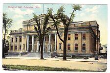 MEMORIAL HALL COLUMBUS OHIO 1912 POSTCARD