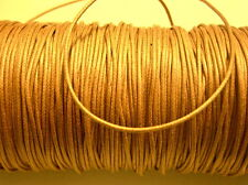 lacci COTONE cerato color havana 1mm 1 metro ricambio cordini bracciali collane