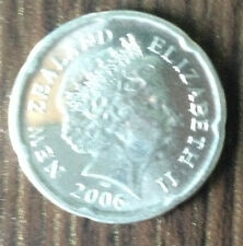 New Zealand 2006 20 cents coin moari carving nice