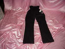 NWT $56 Maternity OH BABY Secret Fit Belly Stretch Black Corduroy Boot Jeans L