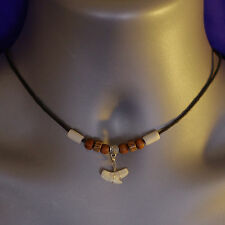 Mens Boys Surfer Tribal Beach Shark Tooth Necklace Choker