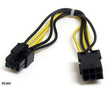 8in 6 pin PCI Express Male to Female Video Card Power Extension Cable, PC-047