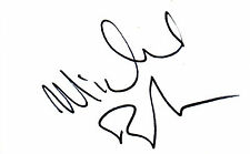 AMERICAN ACTOR MICHAEL BRANDON HANDSIGNED 6 x 4 AUTOGRAPH ALBUM PAGE