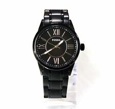 New Fossil BQ1135LE Stainless Steel Black Dial and Band Women Watch