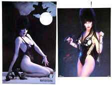Vintage Original Elvira Moonbathing & Yours Cruely Poster Set of 2-FREE S&H