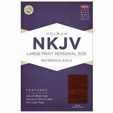 NKJV Large Print Personal Size Reference Bible, Brown LeatherTouch (2013,...
