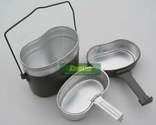 DDR EAST GERMAN ARMY THREE PART OUTDOOR SURVIVAL CAMPING COOK SET MESS TINS