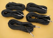 "5 Pack x 6Ft Mono 6.3mm 1/4"" Male Guitar Amplifier Mic Audio PA Headphone Cable"