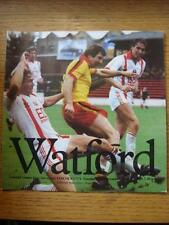 10/11/1981 Watford v Lincoln City [Football League Cup] (Faint Marks)