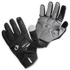 NEW Pearl Izumi Men's Cyclone Gel Gloves Full Finger Bicycle Black - Large L