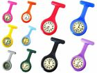 Color Silicone Nurses Doctors Paramedic Tunic Brooch Fob Watch Medical Watch