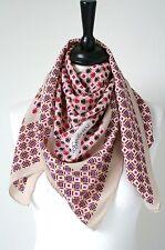 YSL vintage foulard de soie-géométrique imprimer sur Buff-Large