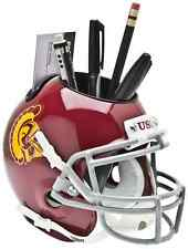 USC TROJANS NCAA Schutt Mini Football Helmet DESK CADDY
