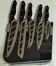 Ming Tsai Aero Knife Set Of  5- Five  With Smart Stand ((Black Color)))