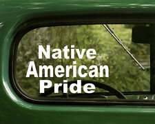 Native American Decal Pride Sticker (2) for Cars, Laptops,boat, truck