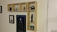 2pc Wall Floating Cube Shelf Set Shop Display Wooden Storage Shelves Bookshelf