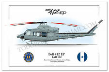 Bell 412 Helicopter Poster Profile