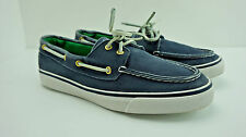 Women's Sperry Top-Sider Bahama Navy Washed Canvas Sneakers Boat Shoe Size 7.5