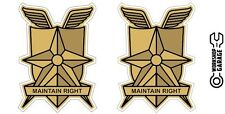 New! Mad Max MFP MAIN FORCE DECAL STICKER - MAINTAIN RIGHT TWIN SET