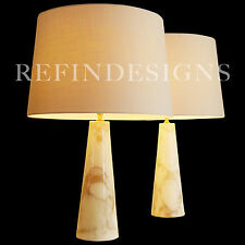 VERMACO MODERN MARBLE COLUMN HOLLYWOOD REGENCY TABLE LAMPS ROBSJOHN GIBBINGS 60s